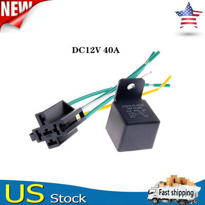 Jd2912 Dc 12v 40a 5 Pins Spdt Harness Socket Relays Automatic Power Relay Us
