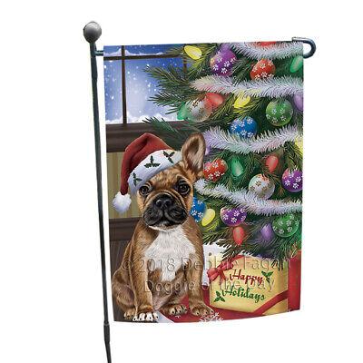 Christmas Happy Holidays French Bulldog Tree Presents Garden Flag GFLG53891
