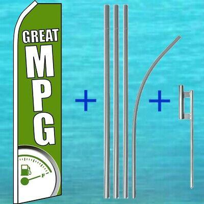 Great Mpg Flutter Flag Pole Mount Kit Car Dealer Feather Swooper Banner Sign