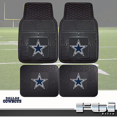Dallas Cowboys NFL Heavy Duty Vinyl 2-Pc & 4-Pc Floor Car Truck SUV Mat Sets