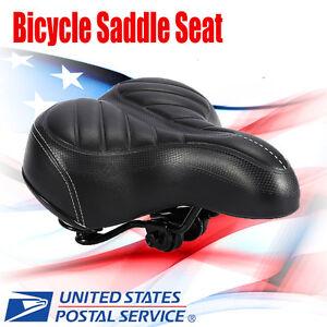 Extra Wide Big Bum Soft Comfort Sporty Bike Bicycle Saddle Spring Seat Cushion