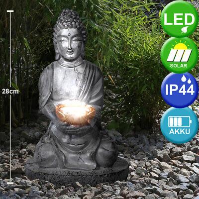 LED Solar Buda Lámpara de Jardín Exterior Flores Bancal Iluminación Terraza