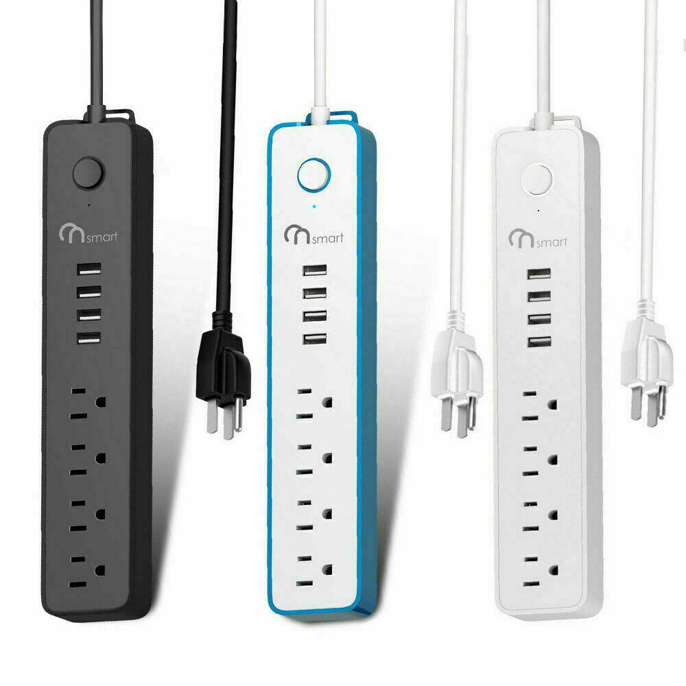 Power Strip with 6FT Extension Cord and 4 Outlets 4 USB Ports Surge Protector