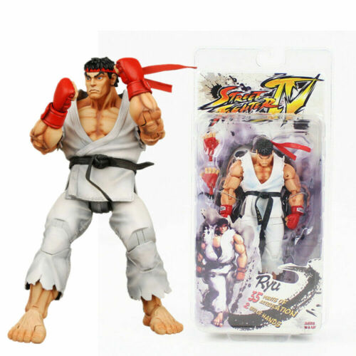 "NECA White Ryu Action Figure Capcom Street Fighter 7"" PVC Game Collectible Toy"