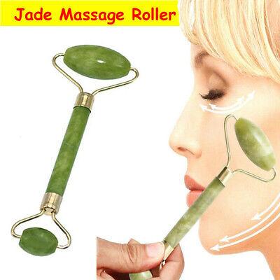 Natural Jade Stone Roller Beauty Face Massage Facial Eye Skin Body Massager Tool