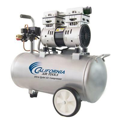 8 Gallon Horizontal Electric Air Compressor Quiet Oil Free 120 Psi Light Duty