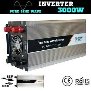 3000W / 6000w Pure Sine inverter Wave 12V-240V Power caravan Wangara Wanneroo Area Preview