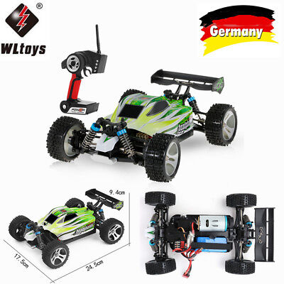 2019 WLtoys A959-B 2.4G 1/18 4WD 70KM/h Elektro-RTR-Offroad-Buggy-RC-Auto F8L5