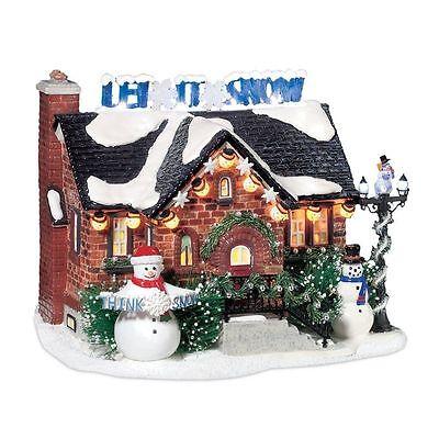 Department 56 Snow Village - THE SNOWMAN HOUSE - NIB FREE SHIPPING