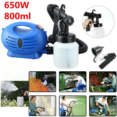 Electric Paint Sprayer (650W 800ml Electric Paint Sprayer Spray Gun Varnish Lacquer Fence Garden Bricks)