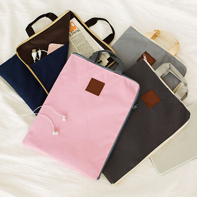 A4 File Document Folder Filing Bag Canvas Cases Stationery School Organizer Tool
