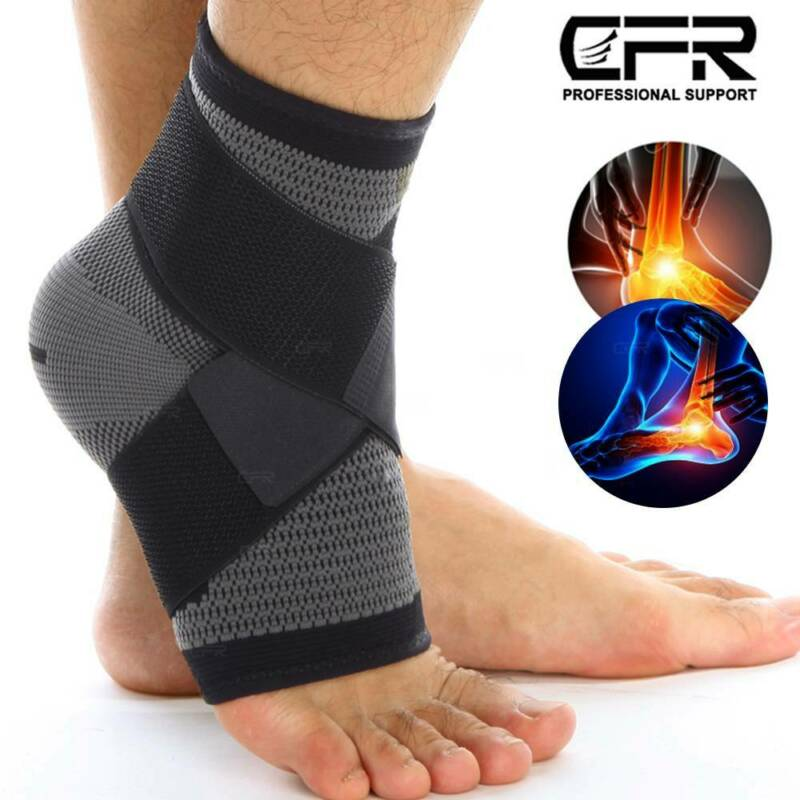 Ankle Brace Compression Support Sleeve for Injury Sprains Jo