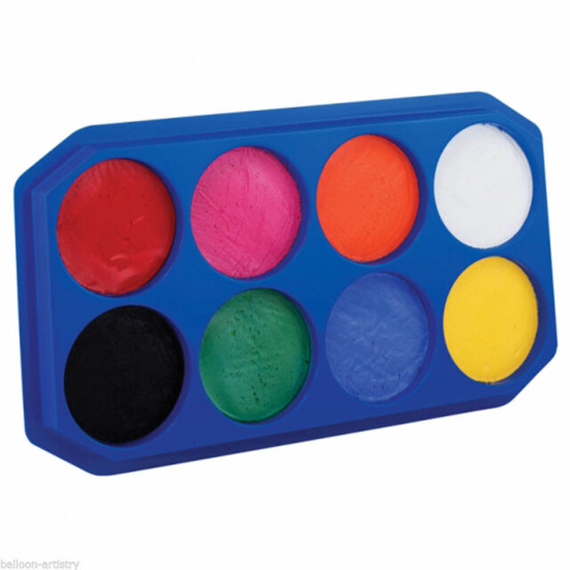 Snazaroo Face Paint Painting Make Up Palette - 8 x 18ml Colours 1196080