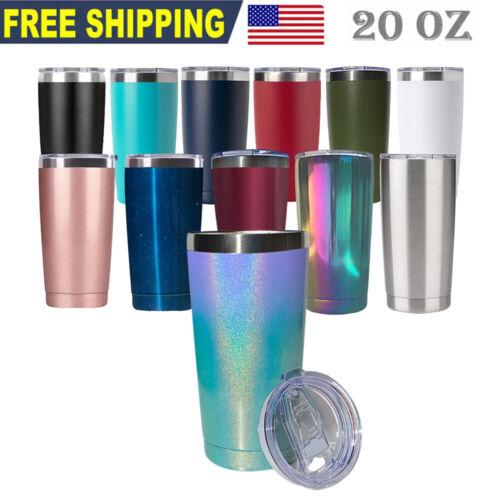 20oz Stainless Steel Tumbler Slider Lid Vacuum Insulated Travel Cup Coffee Mug