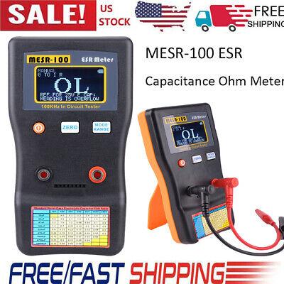 MESR-100 ESR Capacitance Ohm Meter Cap Resistance Capacitor Circuit Tester E3R7