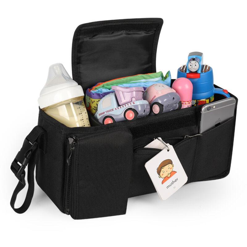 Universal Baby Stroller Organizer Bag Waterproof LeakProof Insulated Cup Holders