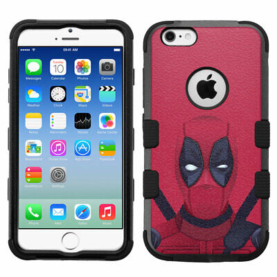 for iPhone 6, iPhone 6s, Shockproof Rugged Impact Armor Case Deadpool #RDD