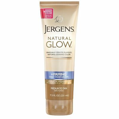 Jergens Natural Glow +FIRMING Daily Moisturizer for Body, Medium to Tan Skin 7.5