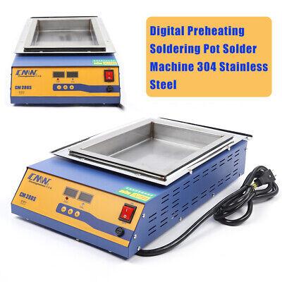 2000w 110v Lead-free Titanium Alloy Solder Pot Desoldering Molten Tin Furnace Us