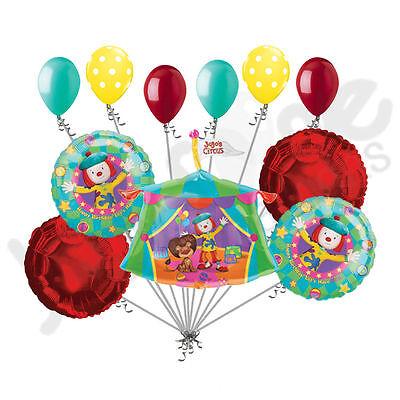 11 pc Jojo's Circus Happy Birthday Balloon Bouquet Cartoon Theme - Carnival Themed Balloons