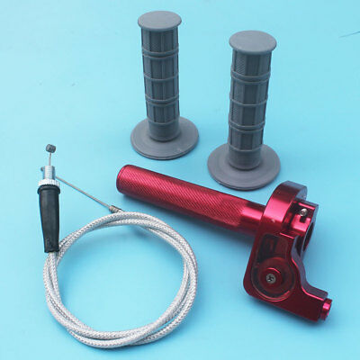 "Red Aluminium Throttle Clamp CRF XR50 125 KLX110 pit bike 7/8"" Handlebar Throtte"