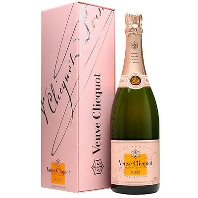VEUVE CLICQUOT ROSE CHAMPAGNE IN GIFT BOX 750ML