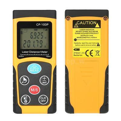 100m328ft Digital Lcd Laser Distance Meter Rangefinder Measure Diastimeter Tool