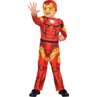 Superhero Squad Iron Man Muscle Toddler Costume Marvel Size 3T - 4T - NEW PC279