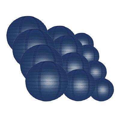 12-PC Navy Blue Paper Lantern Assorted Decoration Combo Set,