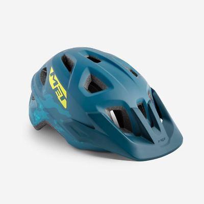 Bicicleta de Montaña Juvenil Ciclo Casco Met Eldar Gasolina Azul Mate un...