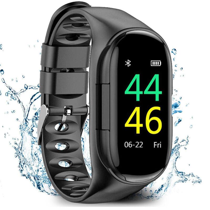 Smart Watch Sport Bracelet With Double Wireless Sport Headphone Combo