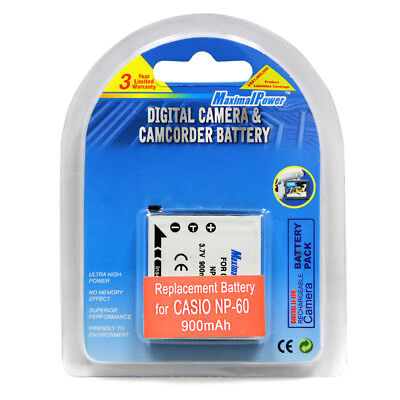 NEW BATTERY FOR CASIO NP-60 NP60 EXILIM EX-S10 EX-S10BE
