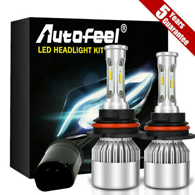 9007 HB5 LED Headlight Conversion Kit 3200W 20000LM High-Low Beam Bulbs 6000K