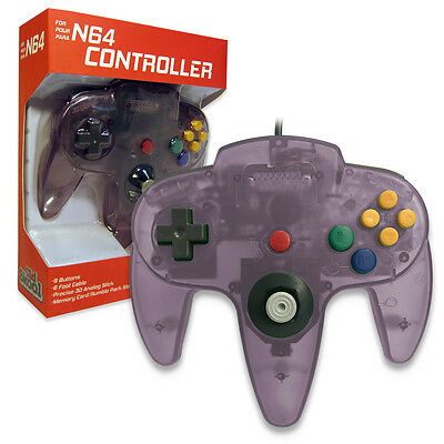Nintendo 64 CONTROLLER ATOMIC PURPLE  N64 *OLD SKOOL* New In Box!!