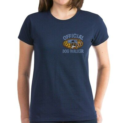 - CafePress Official Dog Walker Women's Dark T Shirt Womens T-Shirt (291629895)