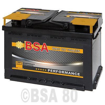 BSA Autobatterie 80Ah 12V +30% Power ersetzt 70Ah 72Ah 74Ah 75Ah 77Ah Batterie