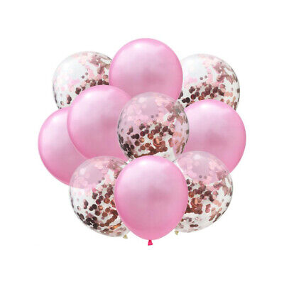 Set für Hochzeit JGA Geburtstag Baby Party Deko Ballons Rosa (Rosa Luftballons)