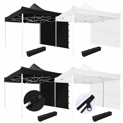10x10' EZ Pop Up Canopy Commercial Tent Outdoor Business Gaz