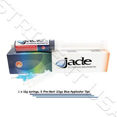 Dental Etching Gel 37 Phosphoric Acid 12 Grams Blue 20 Prebent Tips