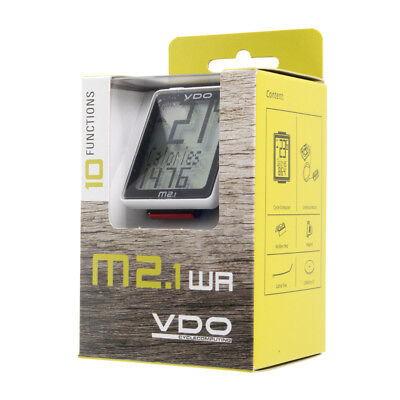New VDO M2.1 WR Wired Bike Cycle Computer Bicycle Speedometer