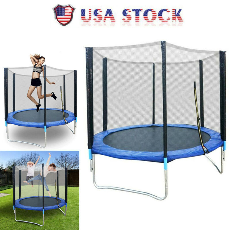 6 FT Kids Trampoline Safety Net Enclosure Jump Exercise Indo