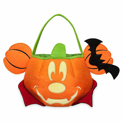 DISNEY Store HALLOWEEN 2017 TRICK OR TREAT Candy Tote Bag MICKEY Mouse GLOWS NWT
