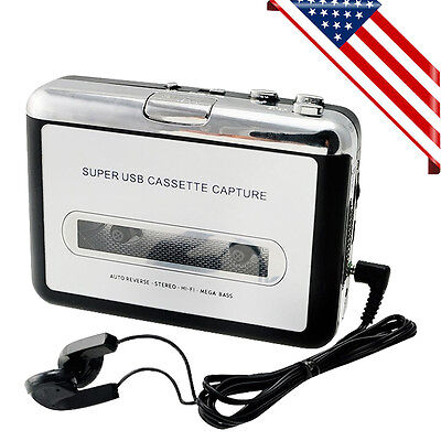 USA SHIP! USB Cassette Tape to MP3 iPod CD Converter Capture Audio Music Player