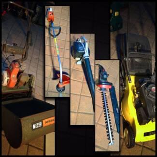 Garden Equipment Bundle - Mowers Blower Whipper & Trimmer