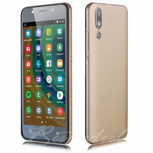 """Android Phone - Cheap Unlocked 5.0"""" Android 8.1 Smart Mobile Quad Core Dual SIM WiFi 5MP Phone"""