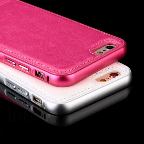 New Luxury Aircraft Aluminum +Leather Phone Case Cover for iPhone 5 5s 6 6s Plus