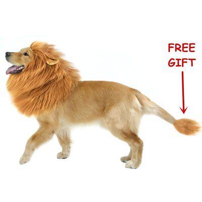 CPPSLEE Halloween Lion Mane Wig Costume - Make Your Dog Lion King - Adjustable
