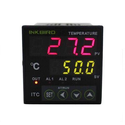 Inkbird Itc-100vl 12v-24v Acdc Pid Temp Controller K Sensor Pt100 2540 Da Ssr