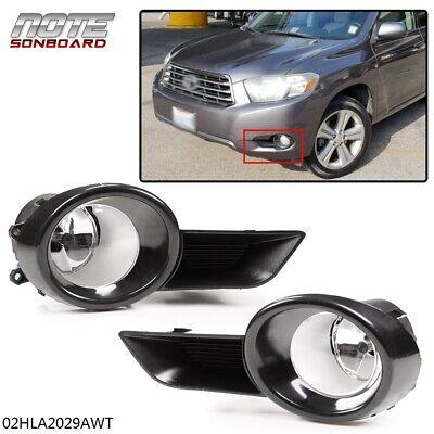 FOR Toyota Highlander Front Bumper Fog Lights W/Switch + H11 Bulb 2008 2009 2010