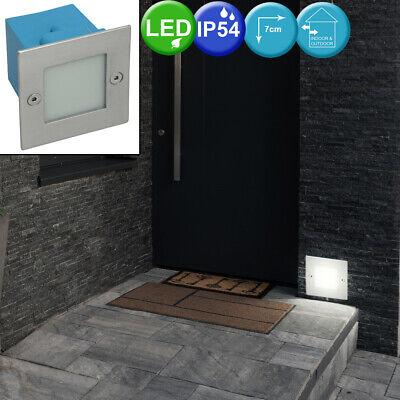 Acero Inox. SMD LED Pared Empotrable Luz Exterior Escaleras Niveles LIVING-XXL